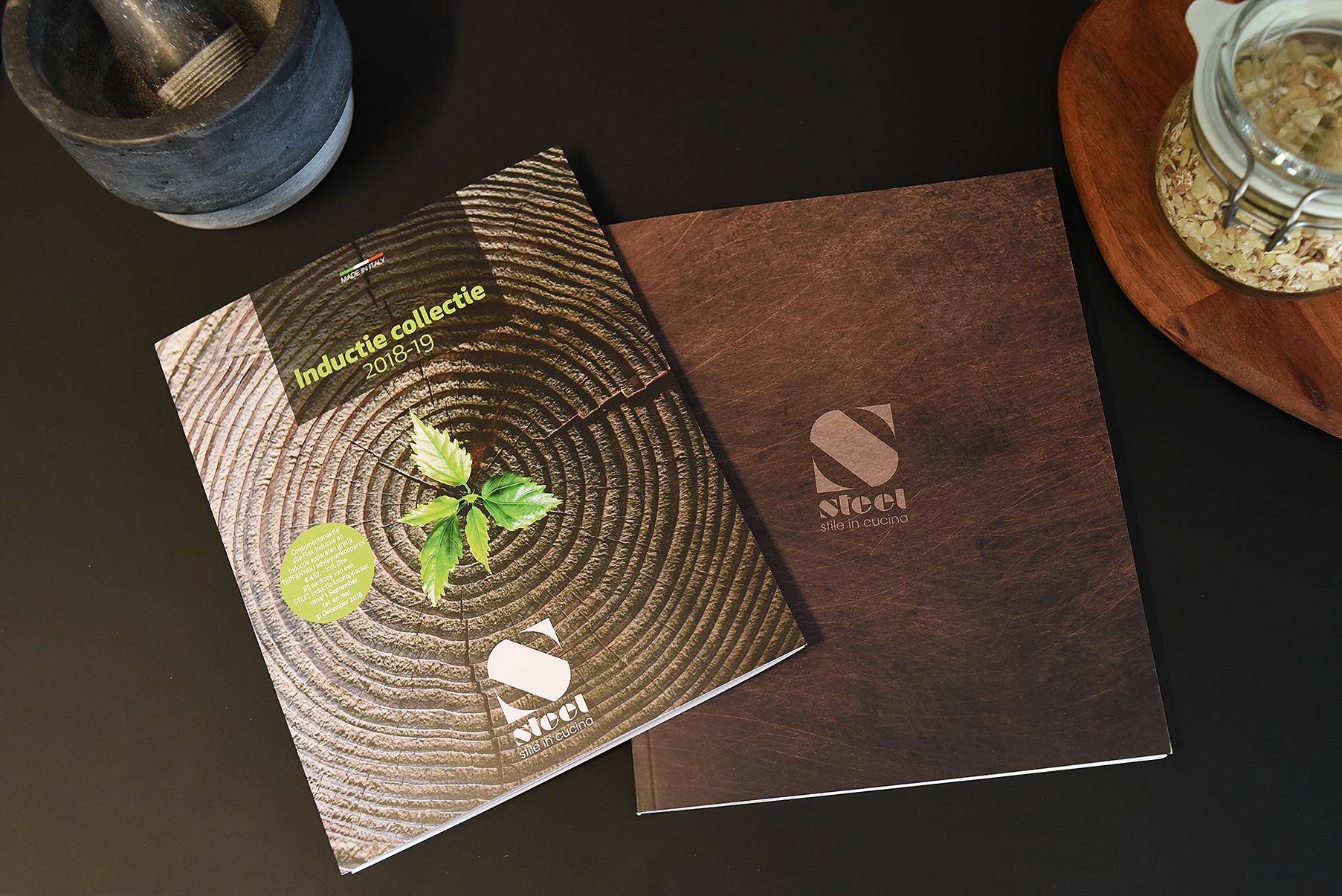 Internationale brochure van Steel fornuizen